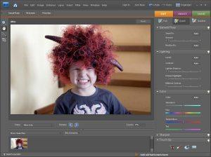 V režimu rychlých úprav můžete snadno a rychle provést základni korekce fotografie