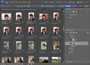 Oranizér umožňuje sandno a efektivně uspořádat fotky a videa pomoci kličových slov