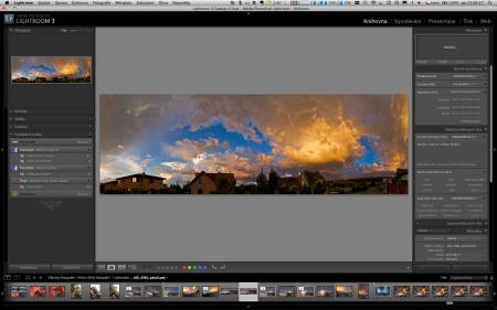 Obrazovka z Photoshop Lightroom 3.2 českého prostředí