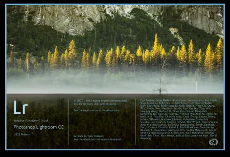 Lightroom CC - úvodní obrazovka